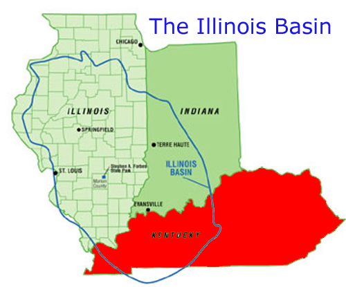 drilling for natural gas and oil in the Illinois Basin - Kentucky, Illinois, Ohio, and Indiana